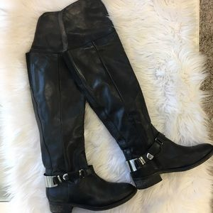 ALDO Over the Knee Boot with silver buckle